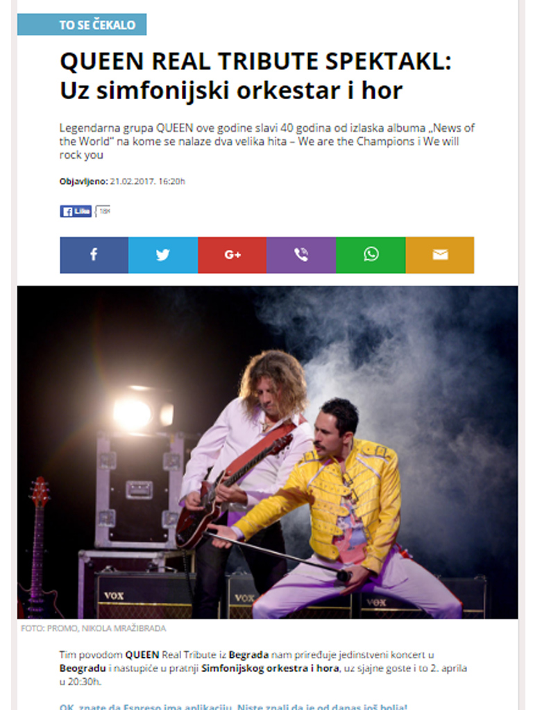 QUEEN REAL TRIBUTE SHOW: With a symphony orchestra and choir